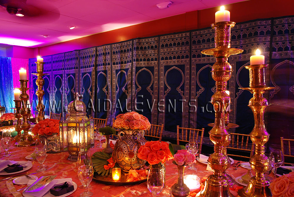 Moroccan Themed Dinner At Bamboo Cafe In Naples Florida 08 & Moroccan Table Settings Decor - Castrophotos