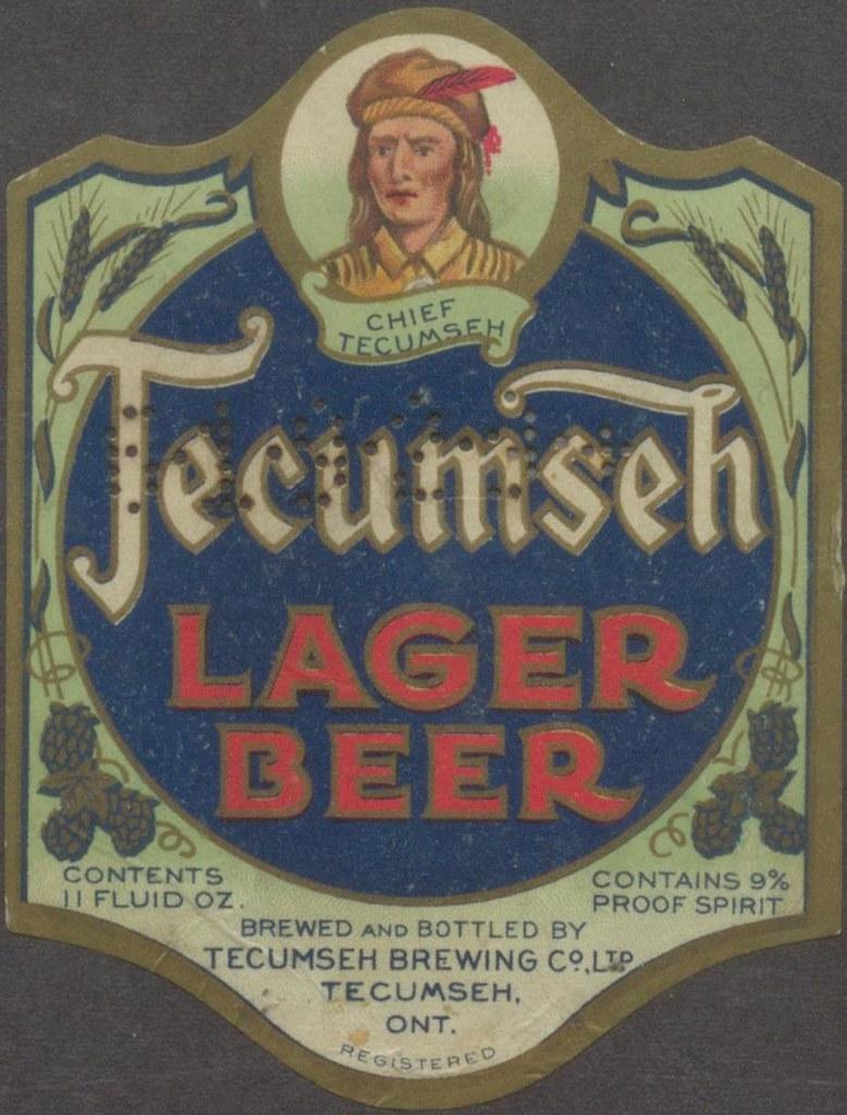 Tecumseh Lager Beer | Creator: Tecumseh Brewing Co. Ltd. Tit… | Flickr