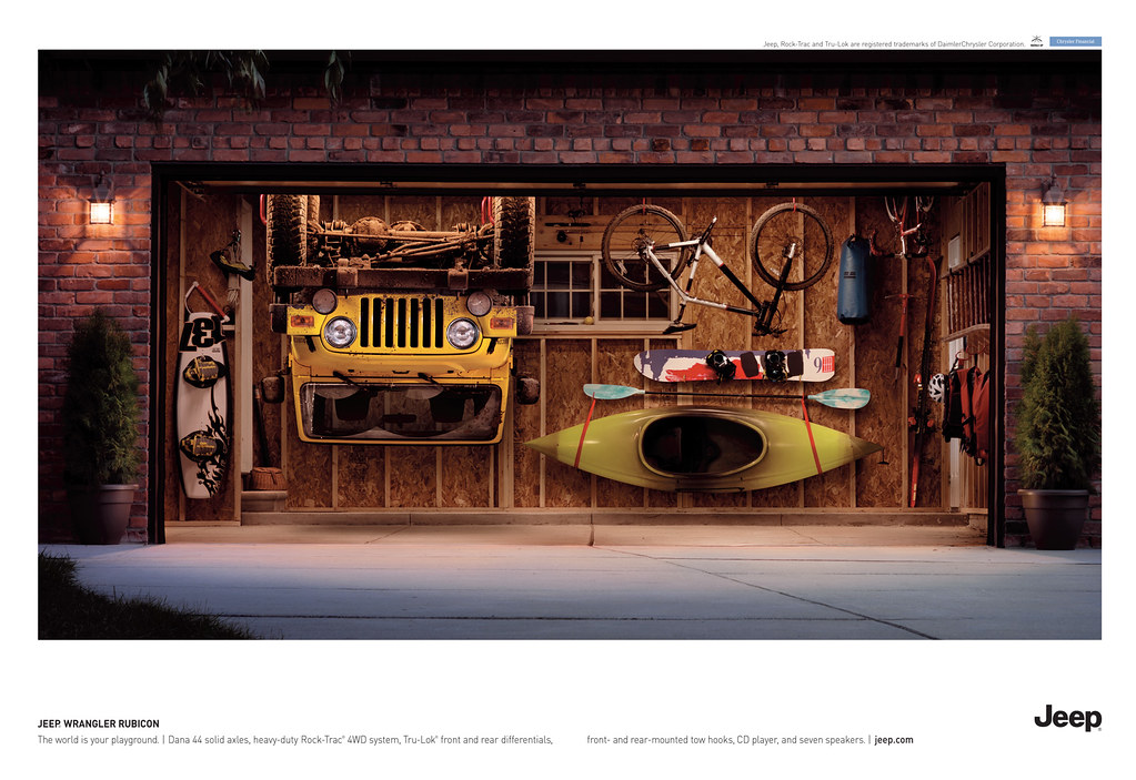 Wrangler rubicon garage ad the world is your playground for Garage ad fougeres