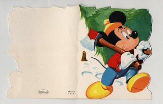Vintage 1955 Christmas Card - Mickey | by Miehana