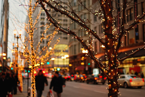 holiday lights and shoppers (explored) | by cb804