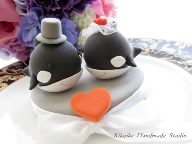 Whale Wedding Cake Topper