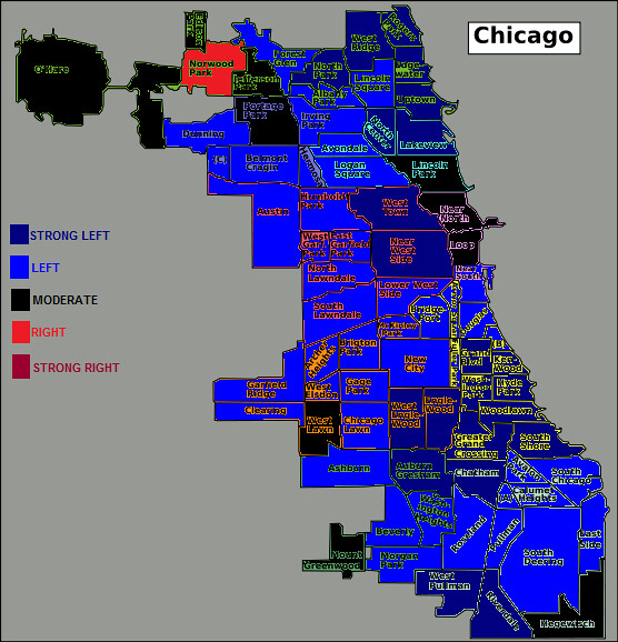 Chicago political map A neighborhood map