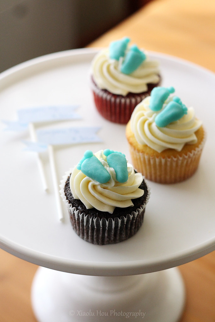 Baby Shower Cupcakes With Marzipan Footprints | Chocolate .