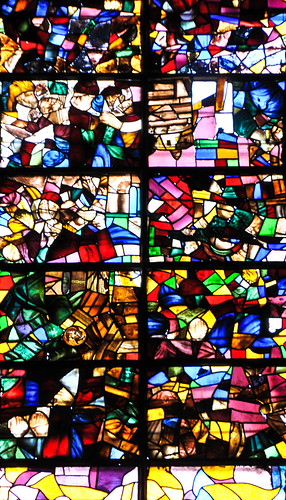 Modern Stained Glass Window inside the Cathedral of Santa María de Segovia Spain | by mbell1975