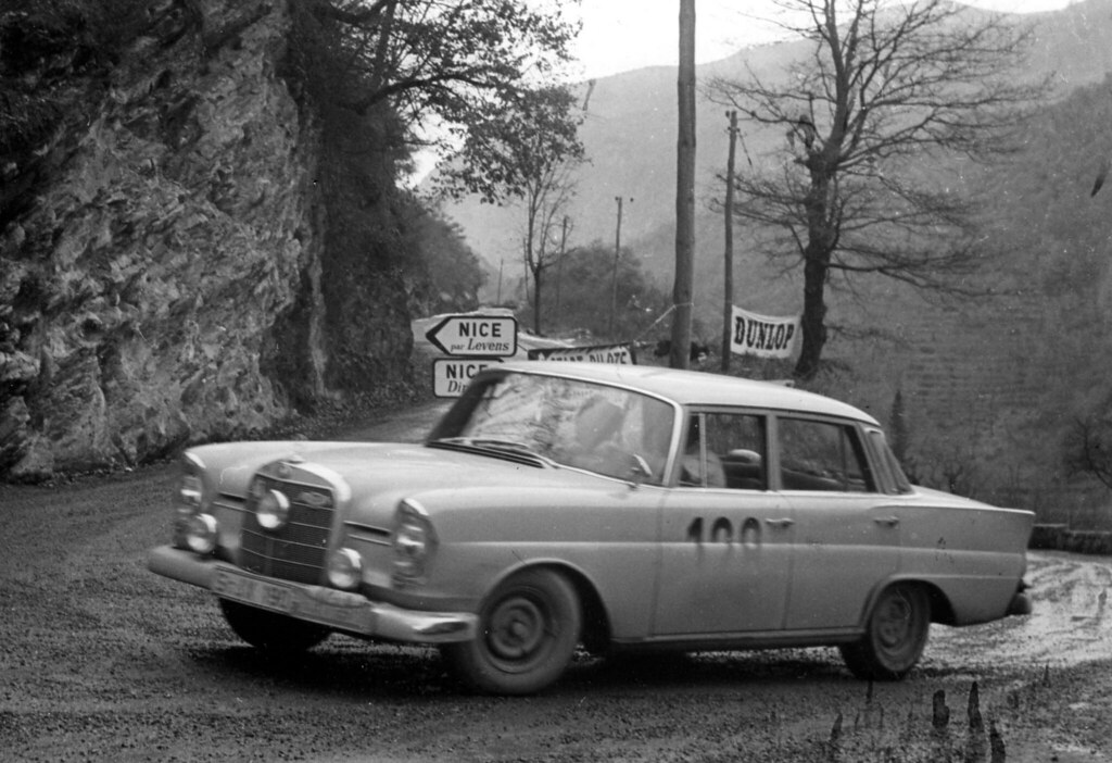 Mercedes benz 220se 1960 monte carlo rally press photo for Rally mercedes benz