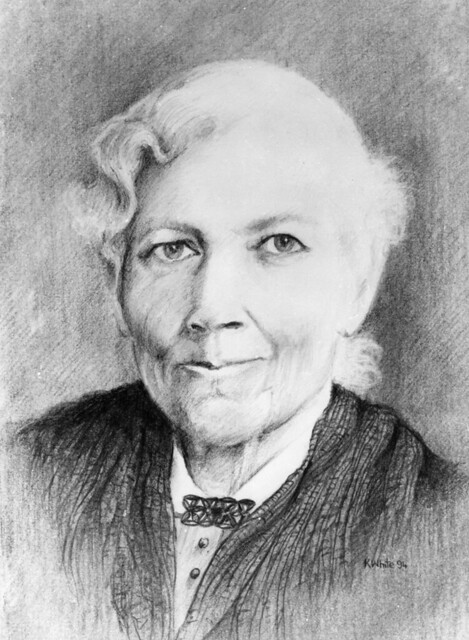 A pencil sketch of Harriet Jacobs.
