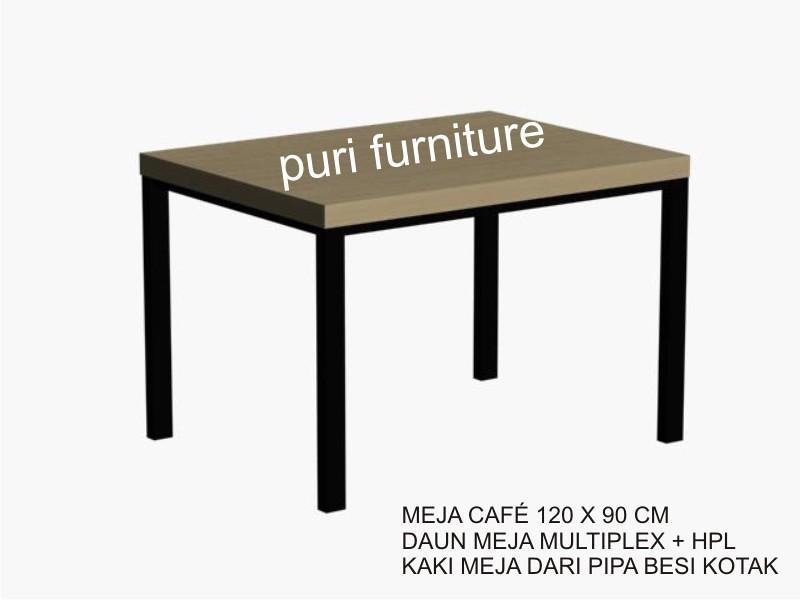 Meja Cafe 120x90 Kaki Besi Kotak Puri Meja Kursi Cafe Flickr