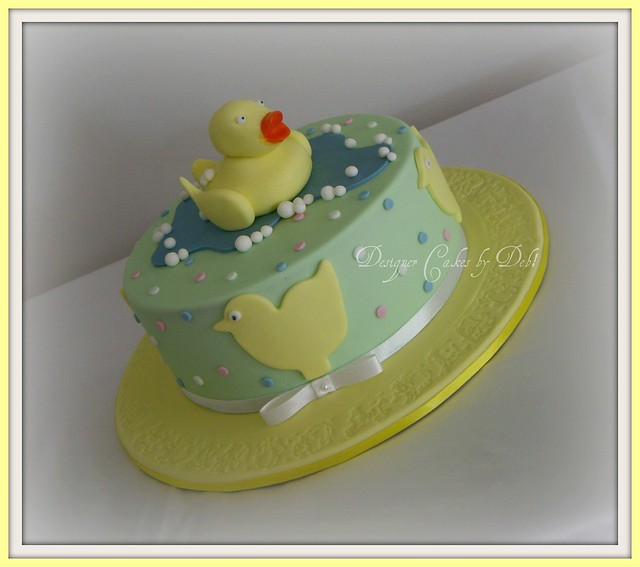 rubber ducky baby shower cake flickr photo sharing