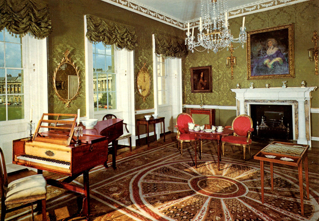 Bath Drawing Room At No 1 Royal Crescent Postcard