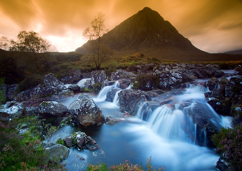 Dawn breaks over the Scottish Highlands | by PeterYoung1.