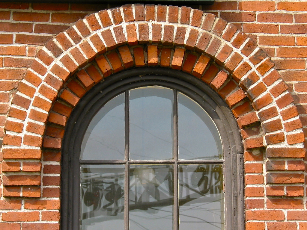 New Haven Junction Depot 1868 Brick Arched Window Deta