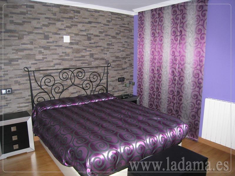 Decoraci n para dormitorios modernos cortinas en barra e - Tipos de cortinas y estores ...