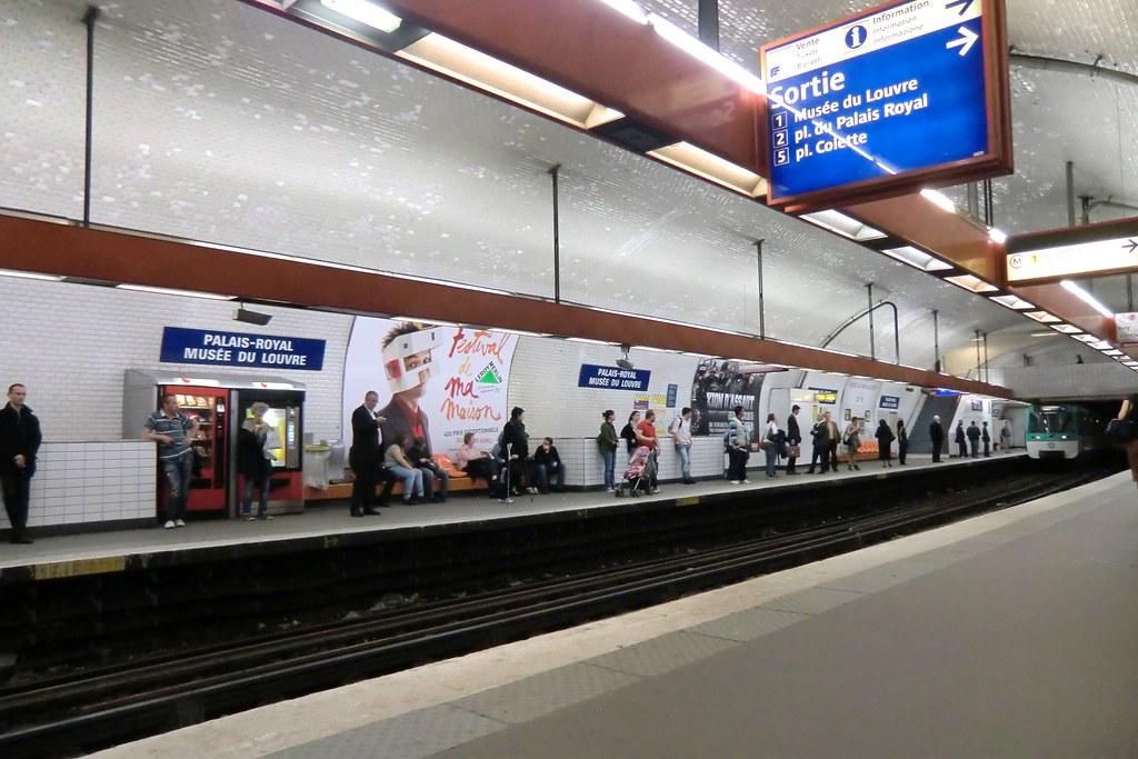 Palais Royal Mus 233 E Du Louvre Station Of The Paris M 233 Tro