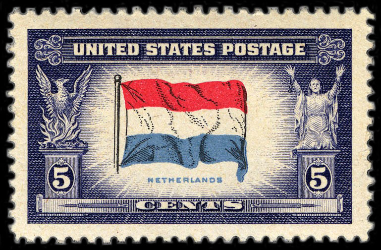 1943 08 24 Dutch Flag On U S Postage Stamp The Red White Flickr