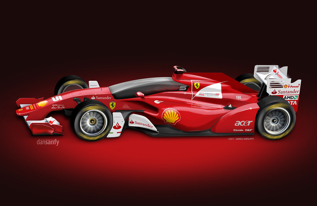 Ferrari Concept Closed Cockpit F1 Car Concept