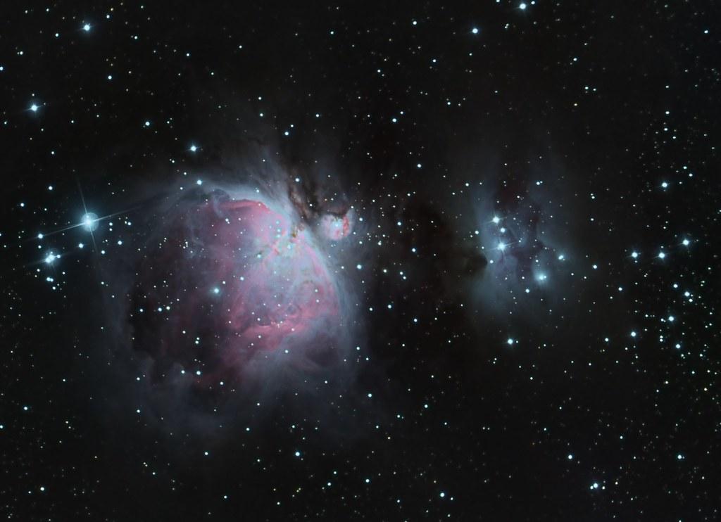 orion nebula in night sky - 1024×742
