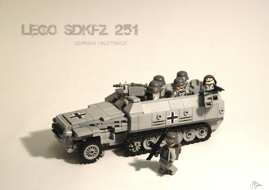 Tracks For Vehicles >> Lego Sdkfz 251 | 10.000 views! i reached it! :) Sdkfz 251 A.… | Flickr