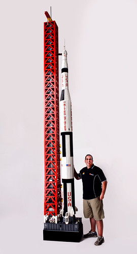 Me next to the Saturn V | by TheBrickMan