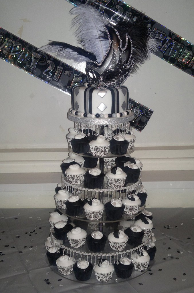 Silver Black And White Wedding Cakes