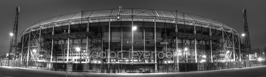 De kuip panorama panorama of stadion feyenoord danny for Canvas feyenoord de kuip