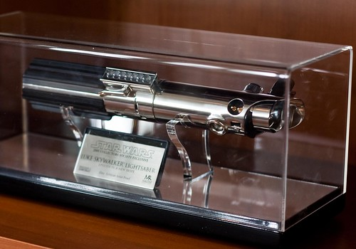 Luke Skywalker's Lightsaber in Episode IV, Lucasfilm Lobby | by Far Out City