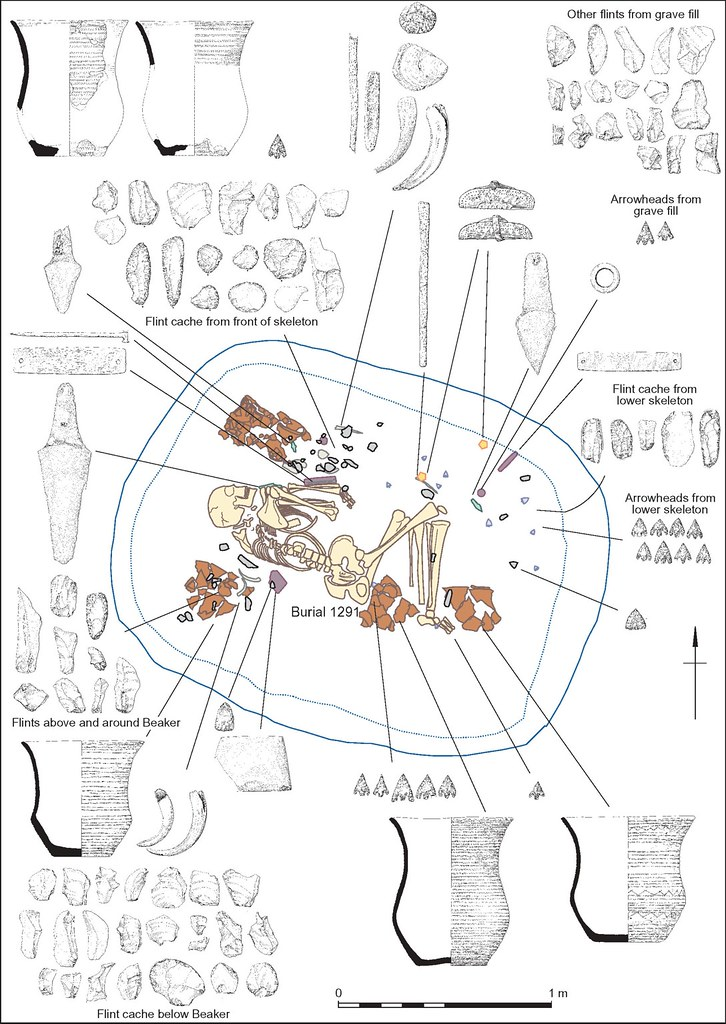 Amesbury Archer Plan Plan Of Grave With The Location Of