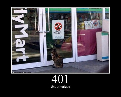401 - Unauthorized | by GirlieMac