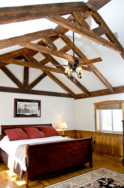 Vaulted ceilings with exposed beams flickr photo sharing for Vaulted ceiling with exposed trusses
