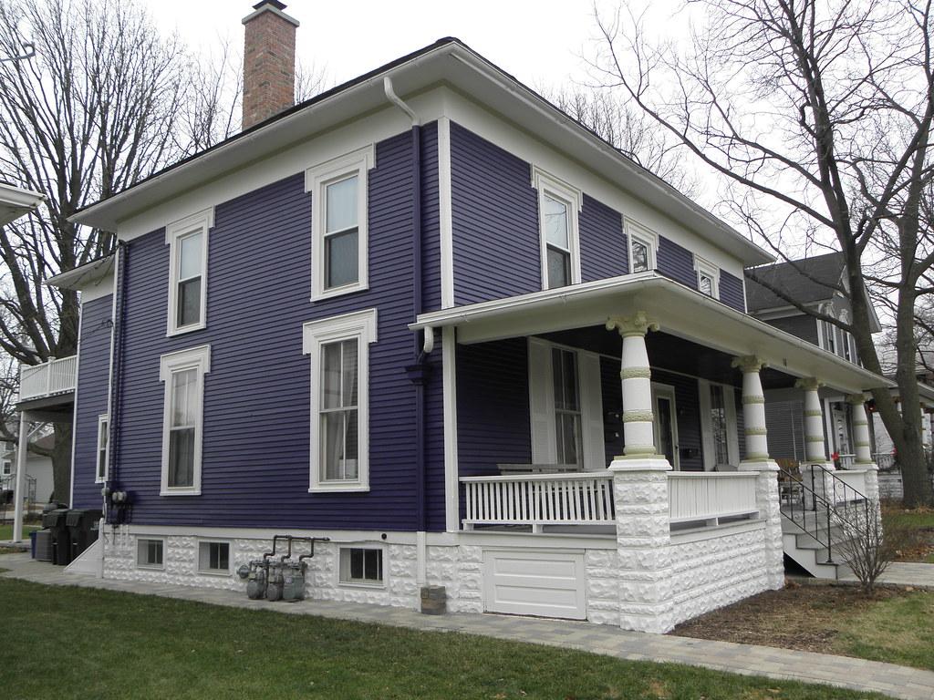 Blue Duplex with wide front Porch | Naperville, IL | Mike