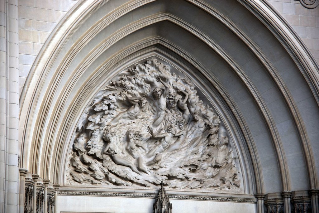 Creation Of Mankind Tympanum West Facade National Ca