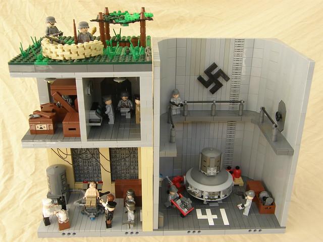 Nazi scientist lab 2 le blockhaus flickr photo sharing for Siege lego france