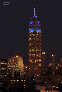 Empire State Building suited up in Blue for the NY Giants | by NYCisMyMuse