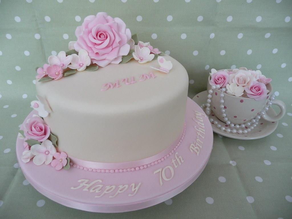 Cake Designs Ideas 70th Birthday : 70th Birthday Cake 70th Birthday Cake made for a special ...