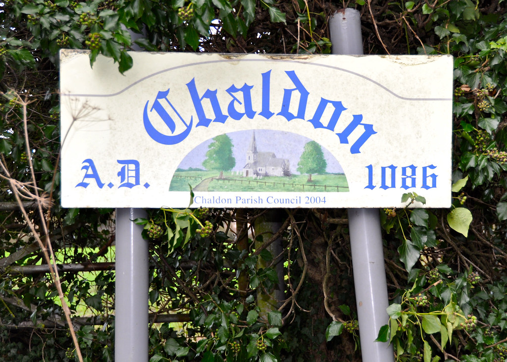 Chaldon sign family walk chaldon christmas day 2011 for Chaldon church mural