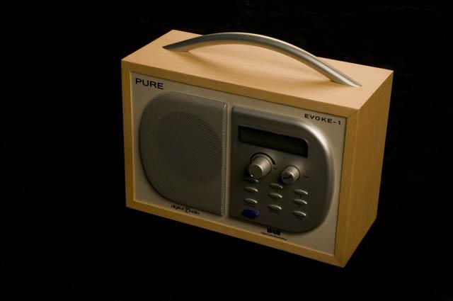 pure evoke 1 dab digital radio receiver silver metal. Black Bedroom Furniture Sets. Home Design Ideas