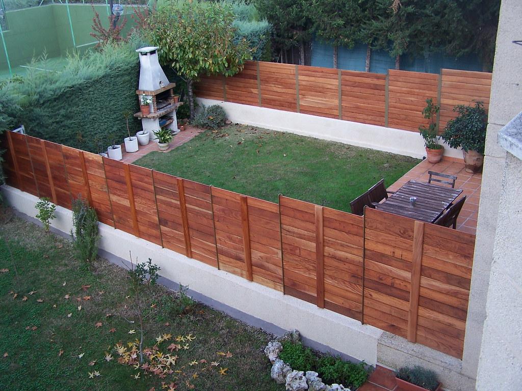 Cerramientos y vallas de madera tropical cerramientos y for Vallas de jardin ikea