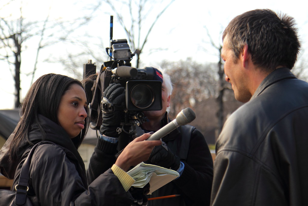 Occupy Dc Television Interview Television News Crew