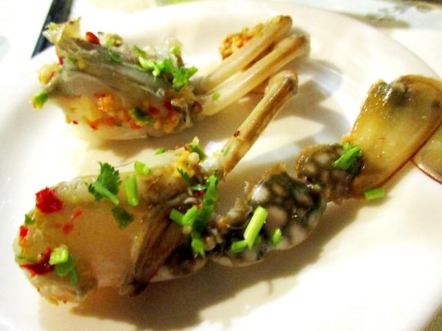 Flavours Thai Kitchen sea crab sashimi