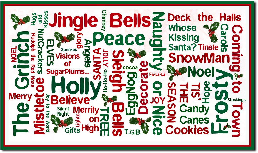 Christmas Words How To Make On My Blog