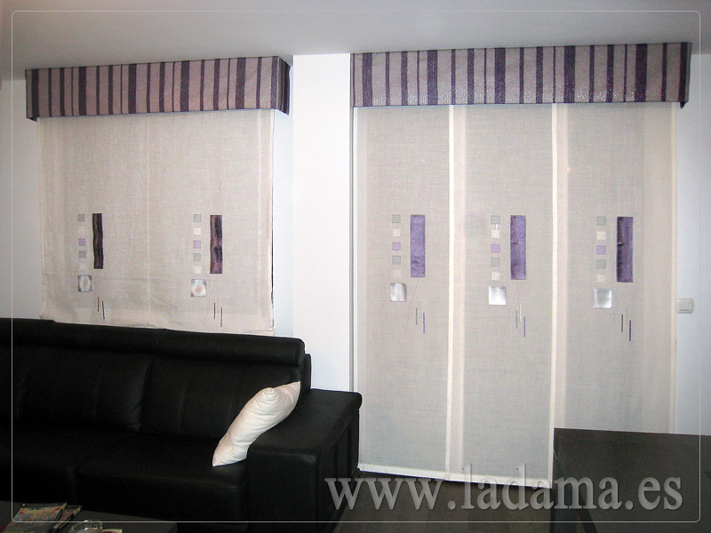 Decoraci n para salones modernos cortinas paneles japone flickr - Fotos panel japones ...