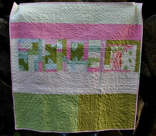 rose baby quilt back | by vickivictoria