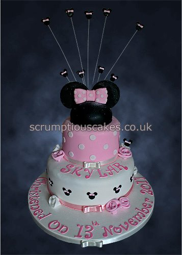 Christening Cake 805 Minnie Mouse Paula Jane Bourke