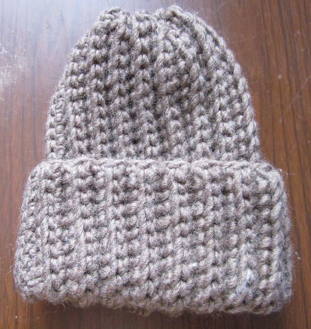 Crochet Ribbed Hat : Crochet Ribbed Hat Brown Flickr - Photo Sharing!