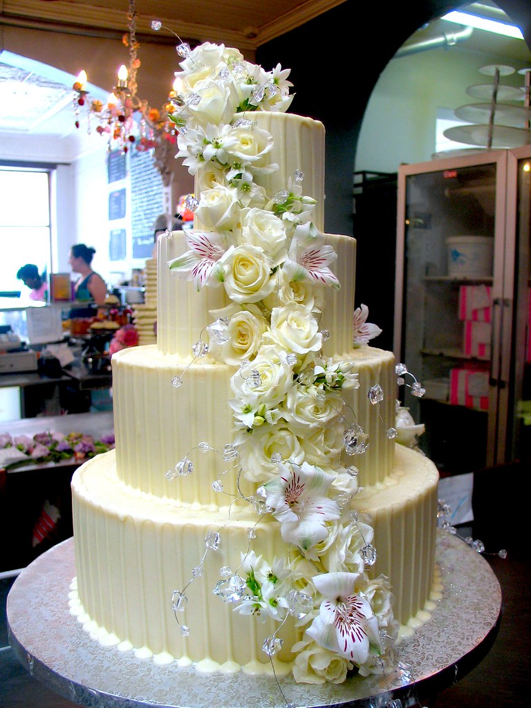 4 Tier Wicked Chocolate Wedding Cake Iced In White Chocola