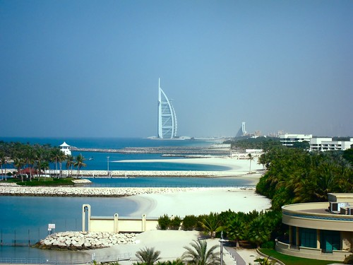 Architecture Modern Buildings _ Burj Al Arab and the little private beaches from Dubai | by Brazilian Traveller