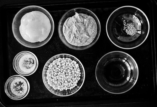 salted almond and honey butter popcorn mise en place | by art and lemons