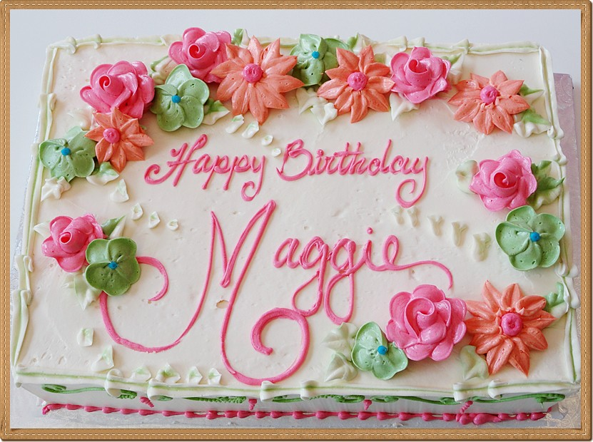 Cake Design For 7th Birthday Girl : Simple Buttercream Sheet Birthday Cake - Vanilla Bella ...