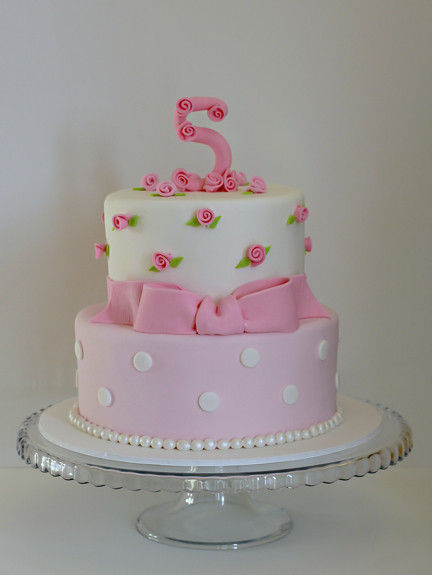 Pink Roses 5th Birthday Cake One Of My Favorite Client S