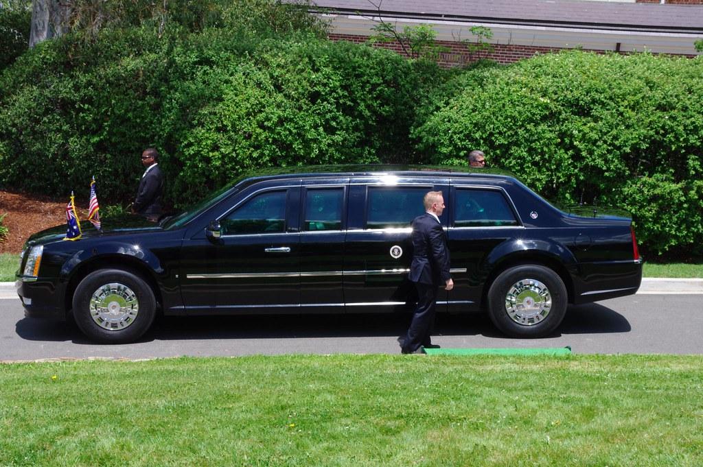 The Beast Cadillac One President Barack Obama Tree Ded